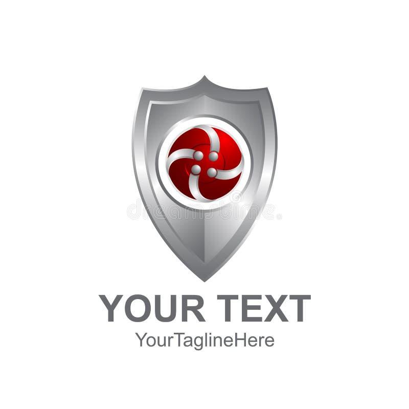 Logo Of Checkered Letter M: Shield Shape Template Stock Vector. Illustration Of