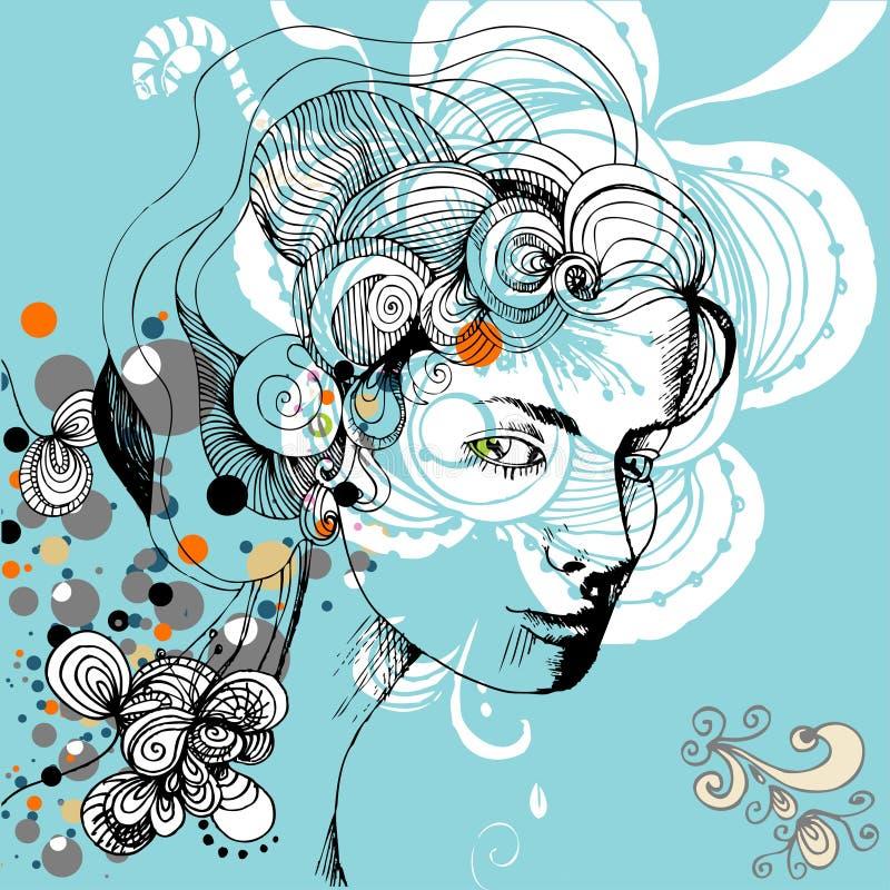 Creative abstract design stock illustration