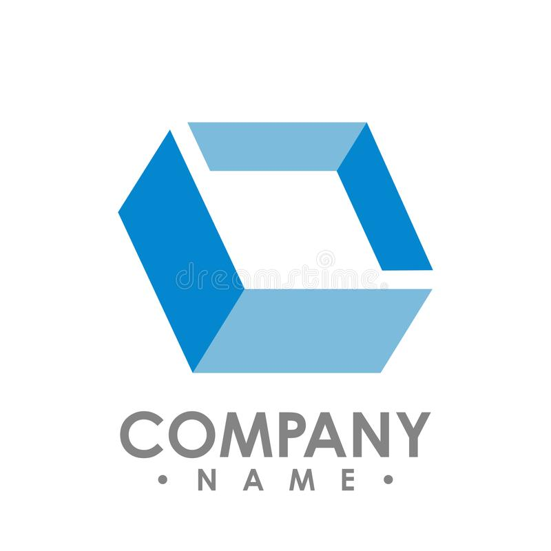 Creative abstract diamond square vector logo design. Abstract lo. Go design shape vector royalty free illustration