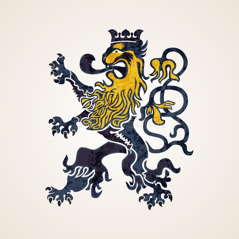 Creative Abstract Lion Logo Design Illustration royalty free illustration