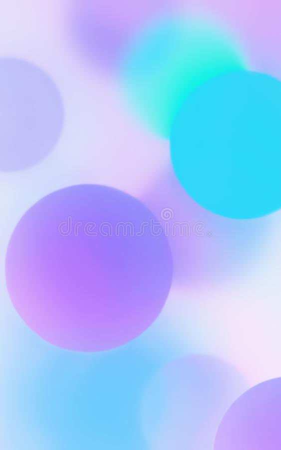 Creative Abstract Sweet Colors Balls And Bokeh Background royalty free stock images