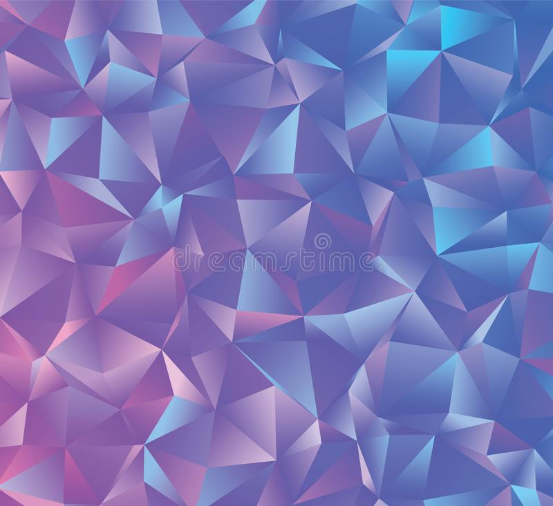 Creative abstract polygonal background. Vector clip art with triangles. Graphic resource for your design works. Creative abstract vector colorful background royalty free illustration