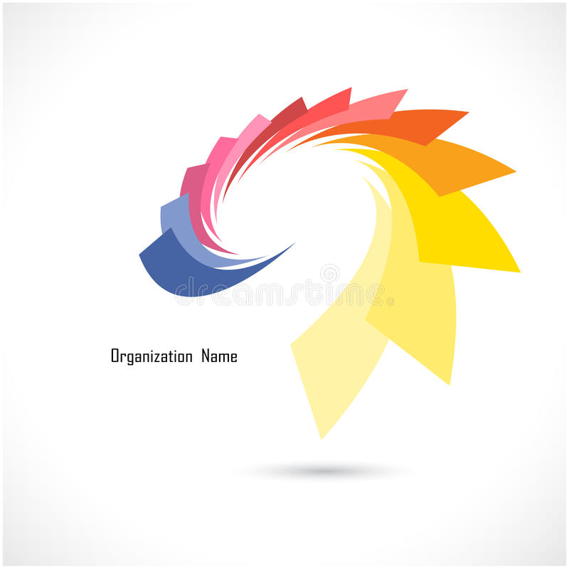 Creative abstract vector logo design template. Corporate business and flower creative logotype symbol. stock illustration