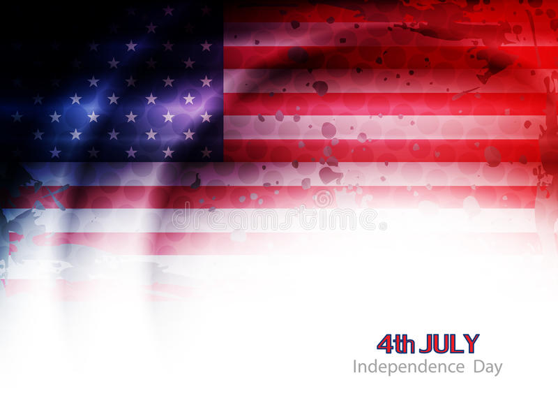 Creative american flag theme background design for royalty free illustration