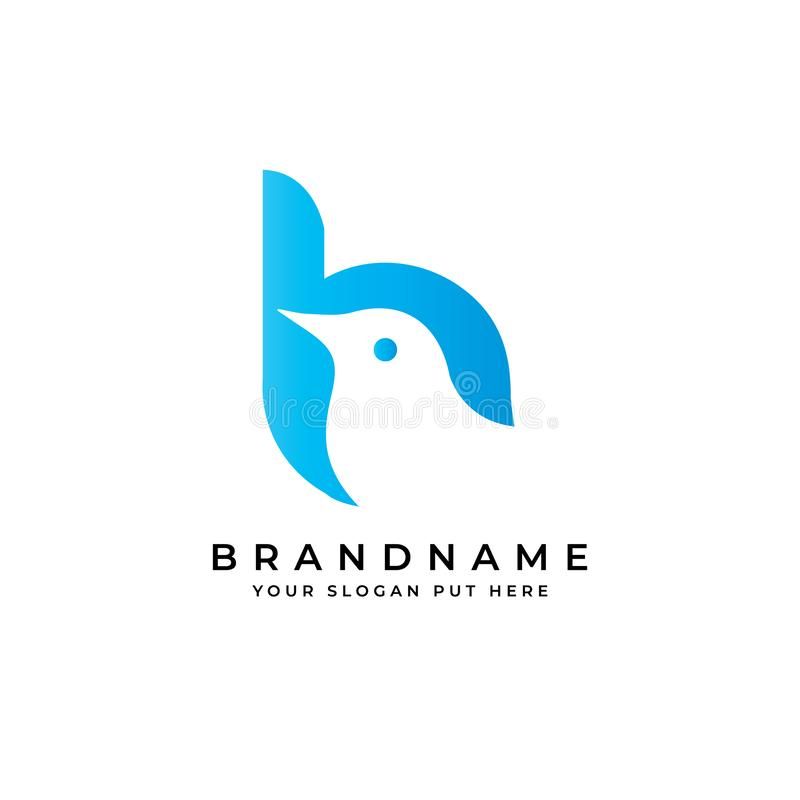 Free Creative And Modern Bird B Letter Logo Design Template Vector Eps Stock Photo - 160939780