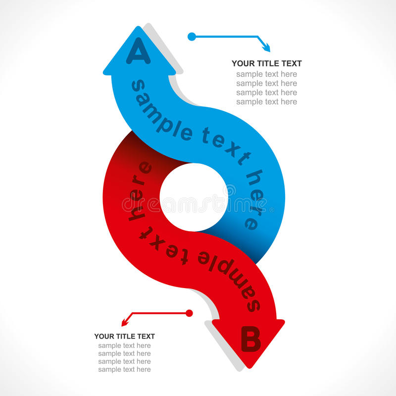 Creative arrow info-graphic vector illustration