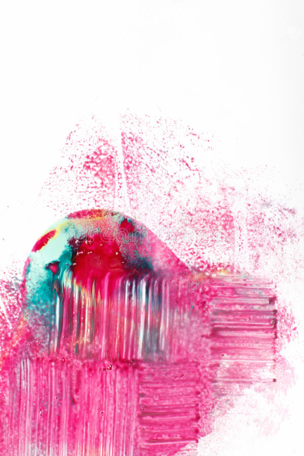 Creative art, abstract colorful modern painting. Creative modern art, abstractionism. Abstract colorful painting, bright mix of magenta, cyan and yellow colors royalty free stock photography