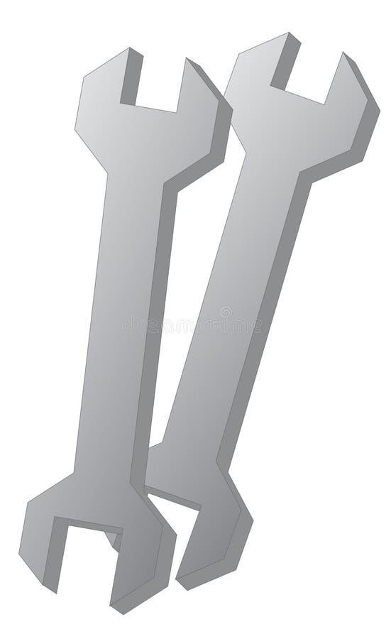 Download Spanner Illustration stock vector. Image of mechanical - 30293369