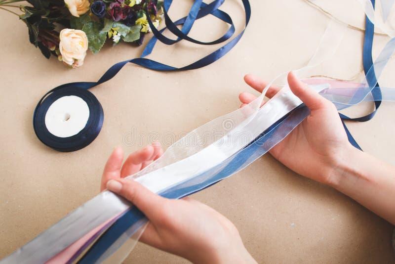 Creative art. Decoration master class, craft, diy royalty free stock image