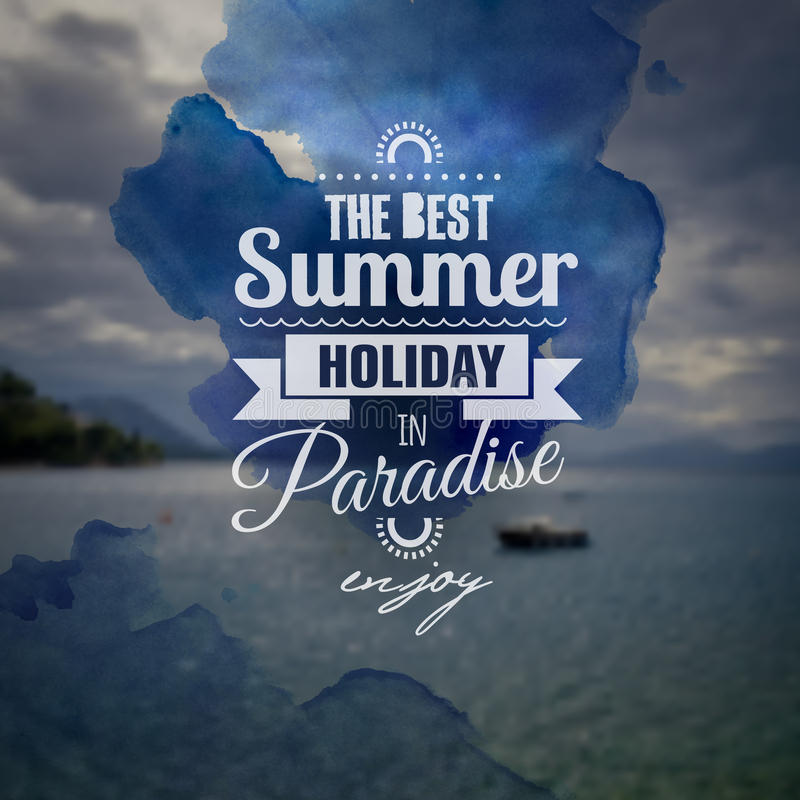 Creative Art Graphic Message For Your Summer Stock Vector