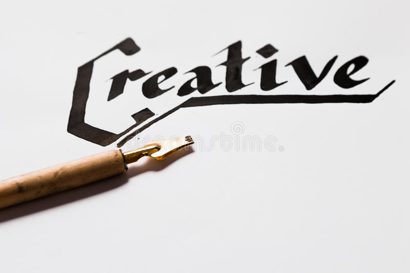Creative artist workplace. Writer inspiration stock photos