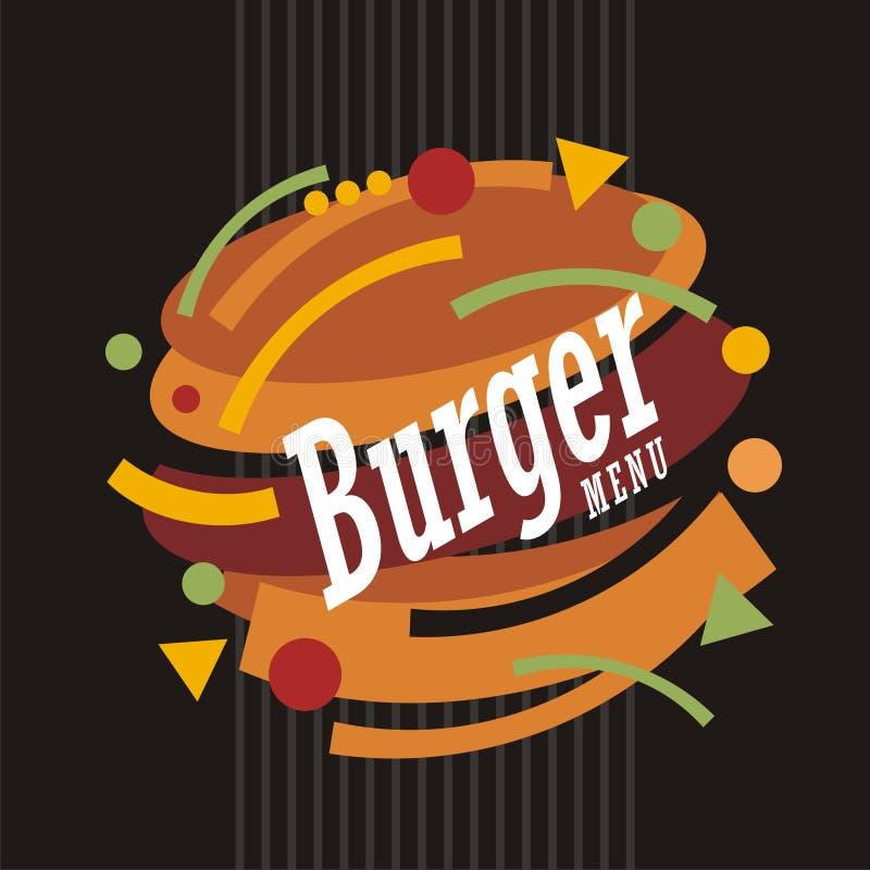 Creative artistic burger illustration design royalty free illustration