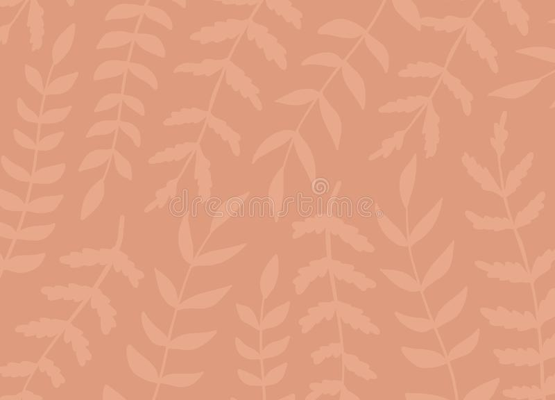 Creative artistic floral pattern background. Hand Drawn textures with leaves. Trendy Graphic Design for banner, poster, card, royalty free illustration