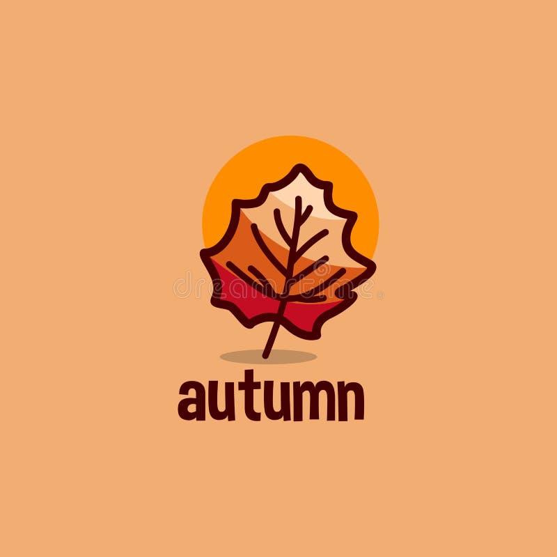 Creative Autumn People Tree Logo Stock Vector - Illustration
