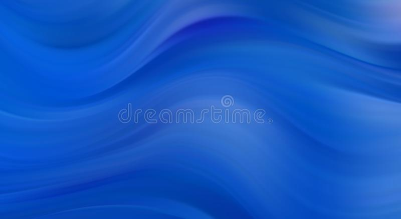 Creative background with abstract acrylic painted waves. Beautiful marble texture. Blue colors. Creative background with abstract acrylic painted waves royalty free illustration