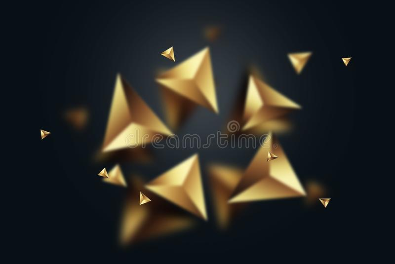 Creative background, Gold on a dark background, 2019 Happy new year, . New year for decoration, celebration, congratulation. copy vector illustration