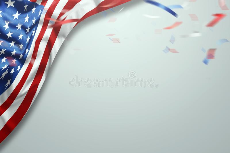 Creative background, light background, usa independence day, american flag. Independence Day Banner USA, postcard, democracy, copy. Creative background, light royalty free illustration