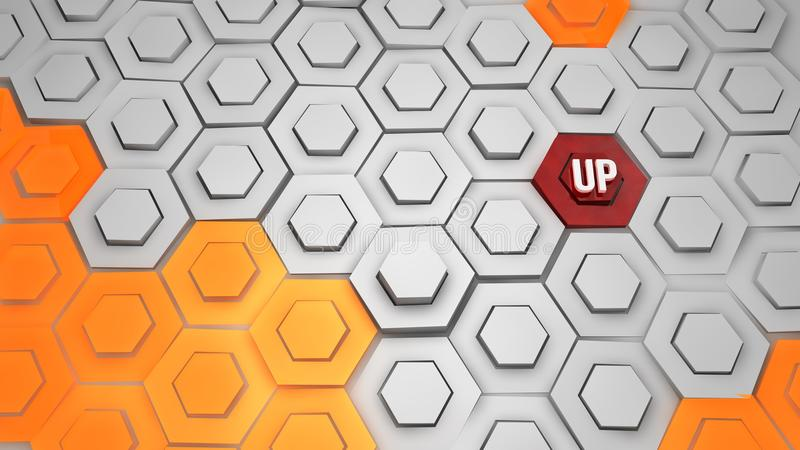 Creative background of rhombic tiles vector illustration