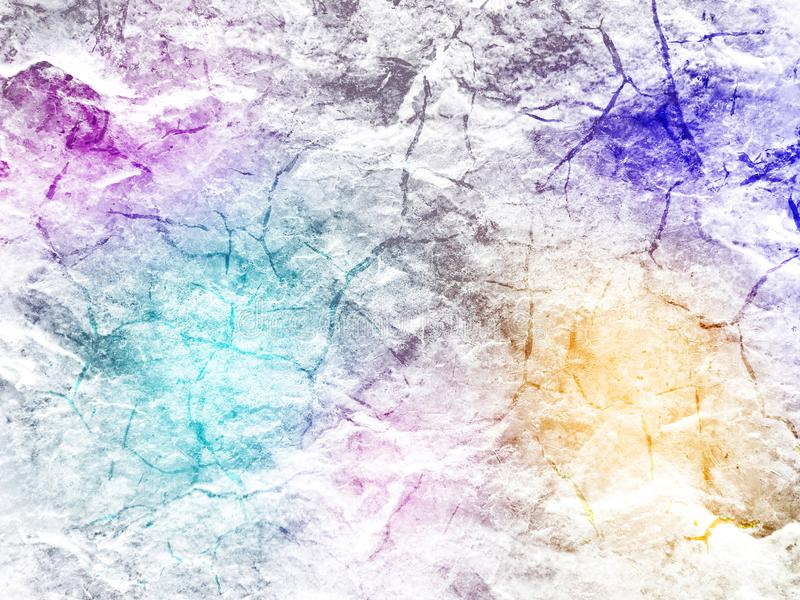 Creative background with stone texture and multi colored halftones of gradients royalty free stock photo