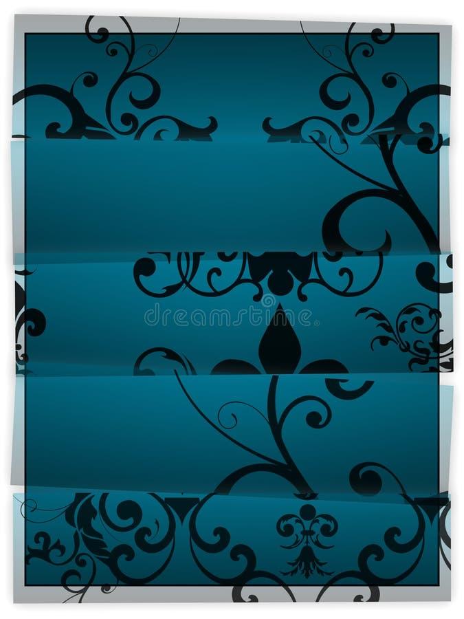 Creative Background wih Floral Pattern royalty free illustration