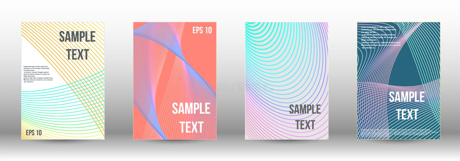 Creative backgrounds with abstract gradient linear. Minimum vector coverage. Abstract cover. Positive design template. Creative backgrounds with abstract royalty free illustration
