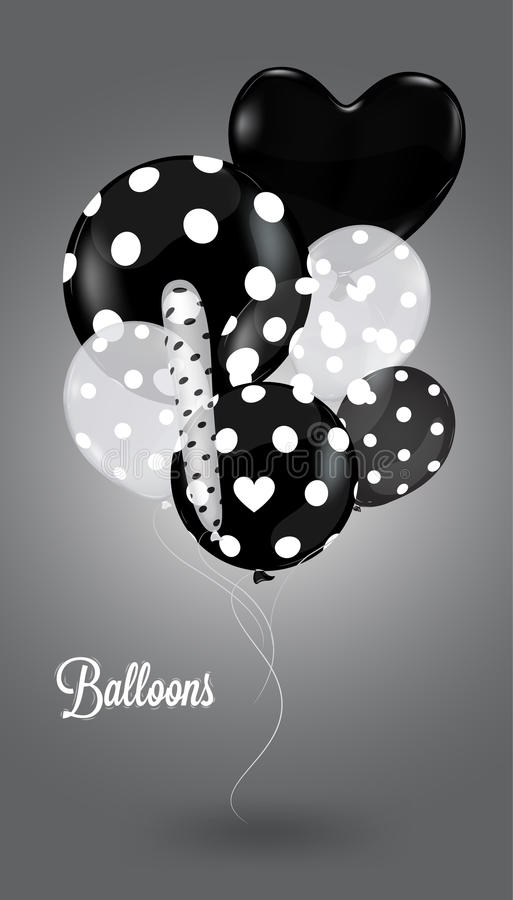 Download Creative Balloon On A Gray Background Stock Vector - Illustration: 33145668