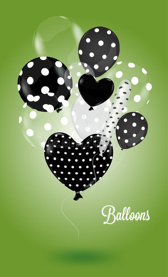 Creative Balloon On A Green Background Royalty Free Stock Photography