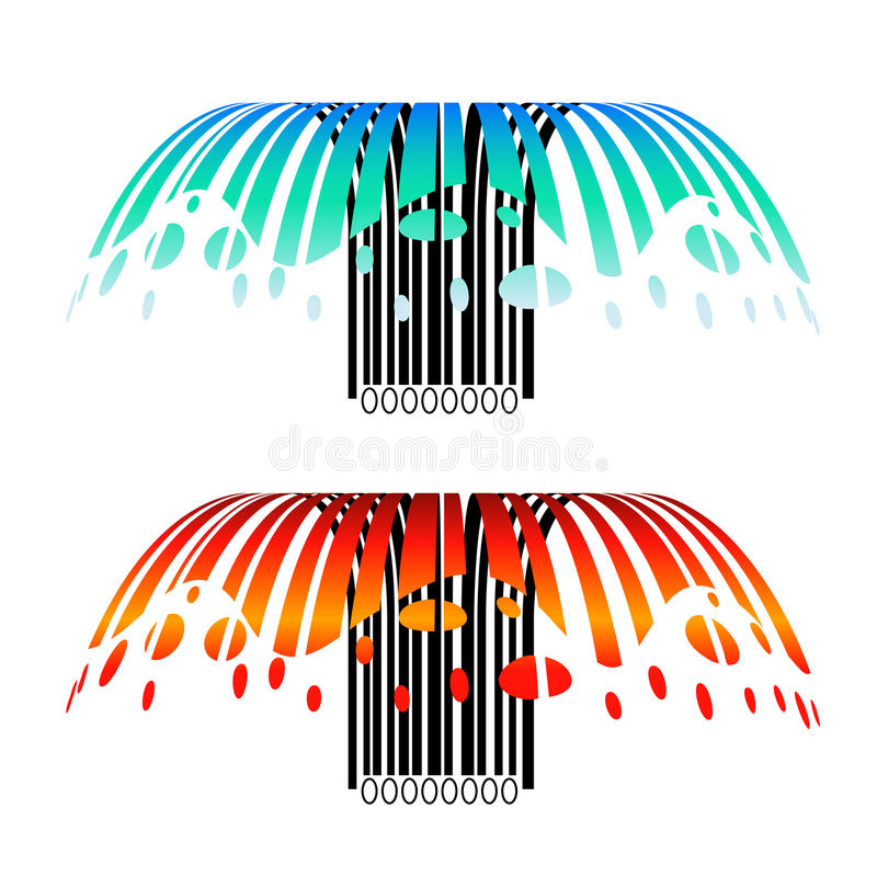 Download Creative barcodes stock image. Image of water, illustration - 15321413