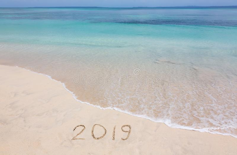 2019 creative on the beach royalty free stock image