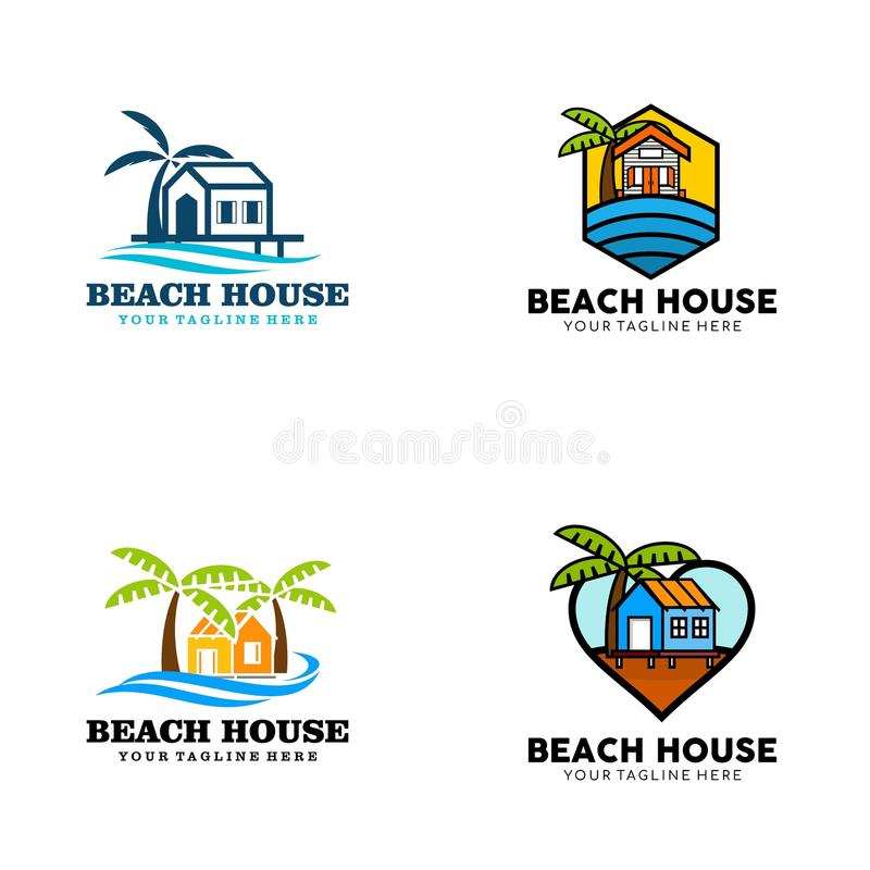 Creative Beach House Logo Design Vector Art Logo. Creative and clever beach house Logo Design for various used and purposed just for you the great people vector illustration
