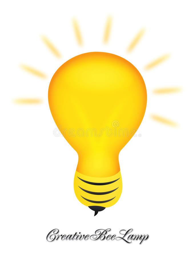Creative bee lamp logo design