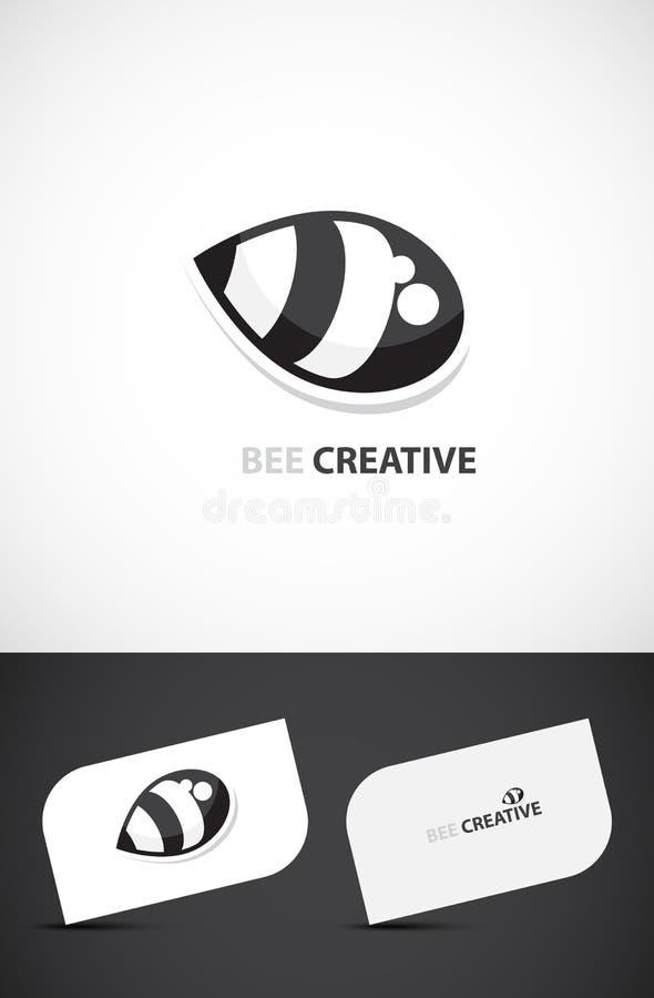 Creative bee logo design stock images