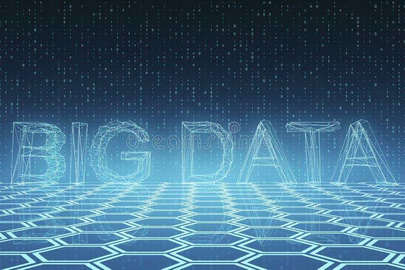 Creative big data wallpaper stock illustration