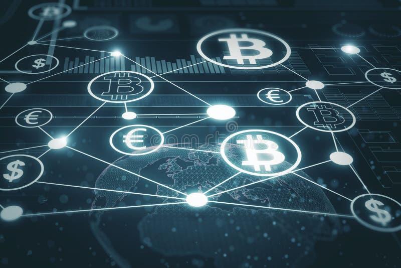 Creative blockchain background stock illustration