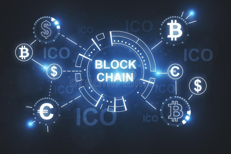 Creative blockchain wallpaper vector illustration