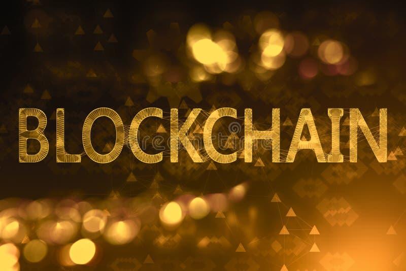 Creative blockchain wallpaper royalty free illustration