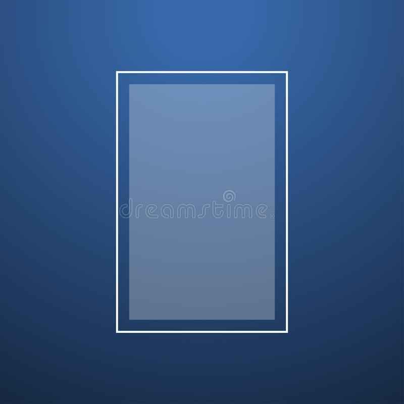 Creative blue abstract smooth background top light vector. Illustration royalty free illustration