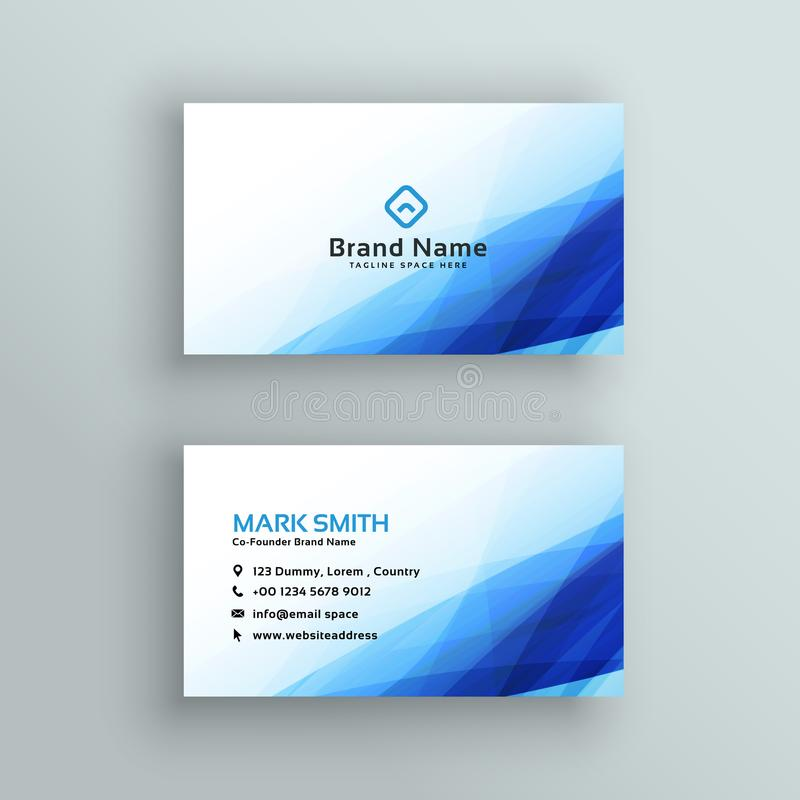 Creative blue business card vector stock illustration illustration creative blue business card vector illustration reheart Image collections