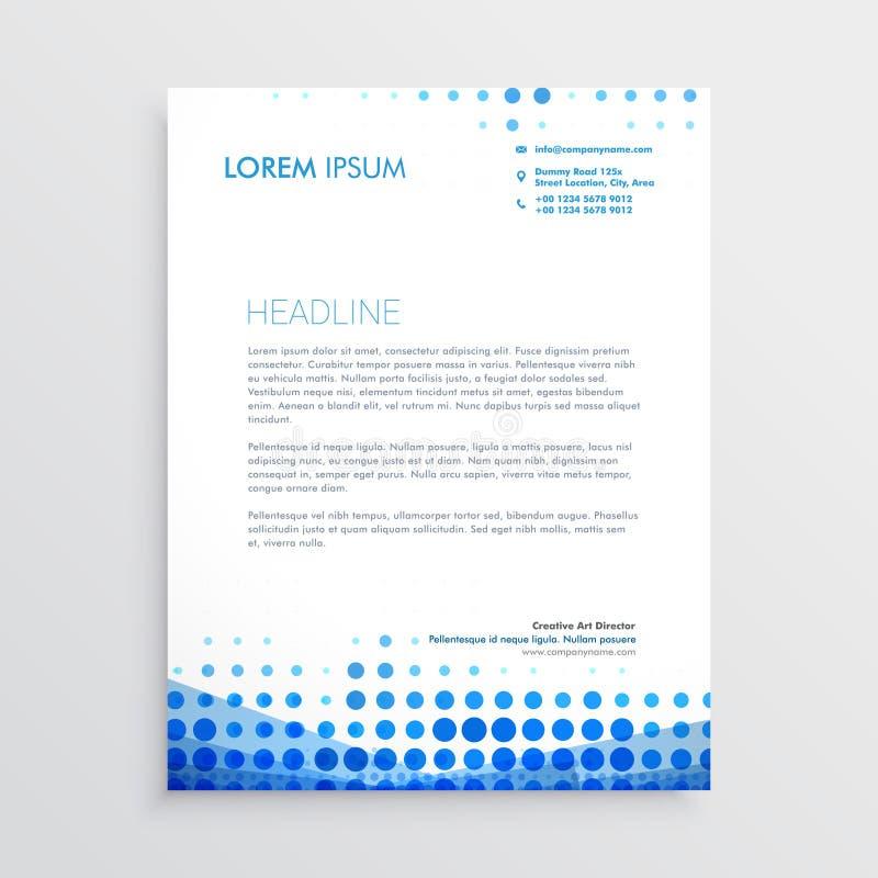 Creative blue business letterhead design stock illustration