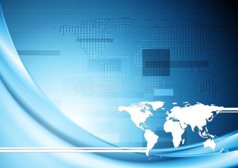 Creative blue hi-tech background. Vector design stock illustration