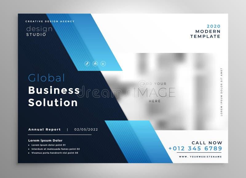 creative blue modern business brochure flyer presentation template royalty free illustration