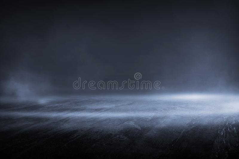 Creative blurry outdoor asphalt background with mist light high. Speed royalty free stock image