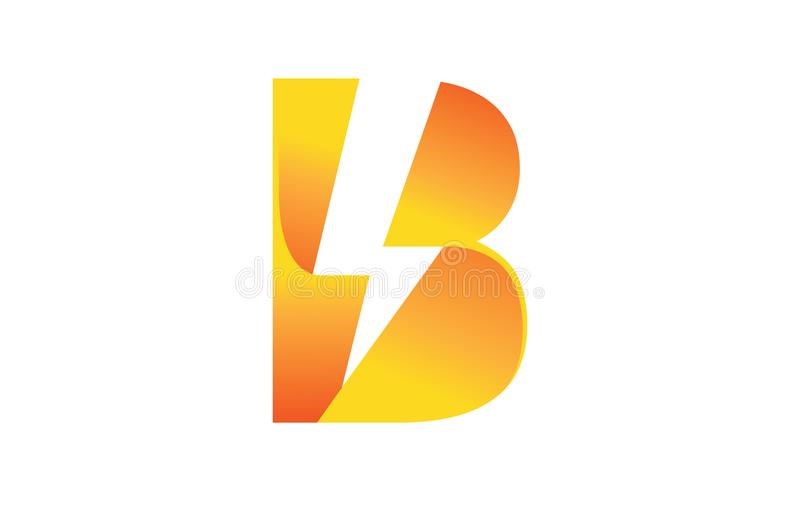 Creative Bolt Lightning Flash Letter B Symbol Logo vector illustration