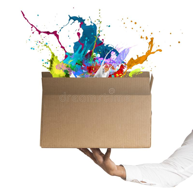 Creative box stock photography