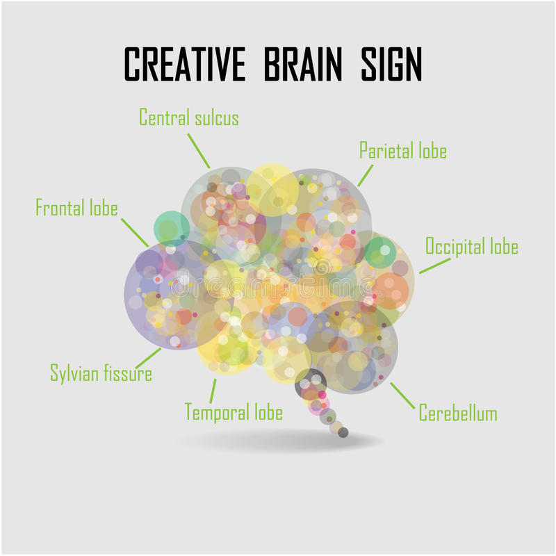 Creative brain bubble royalty free illustration