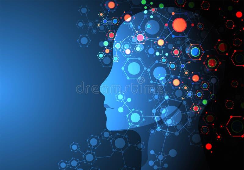 Creative brain concept background. Artificial Intelligence concept. vector illustration