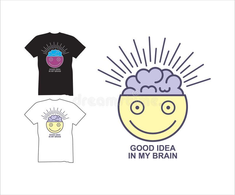 Creative brain for t-shirt, modern t-shirt. Creative brain, design for logo, t-shirt, symbol, clip art. illustration of the brilliance of the brain stock illustration