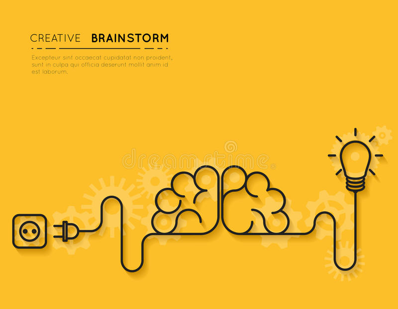 Creative brainstorm concept royalty free illustration