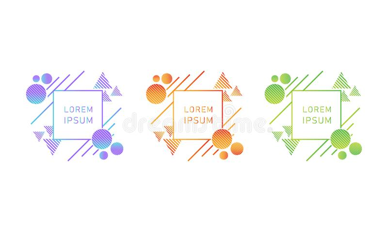 Creative bright gradient style design element royalty free stock image