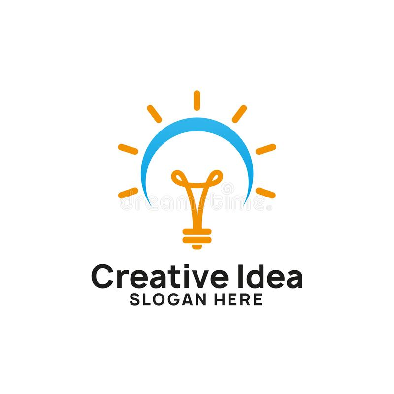 creative bright idea logo design template. bulb icon symbol design vector illustration